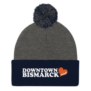 Downtown Bismarck Embroidered Pom Pom Knit Cap